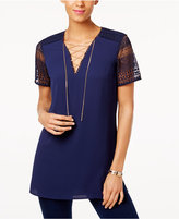 MICHAEL Michael Kors Chain Lace-Up Tunic