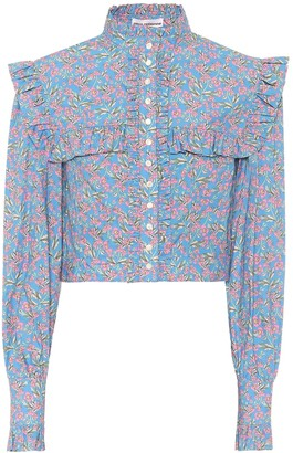 Paco Rabanne Floral cotton blouse