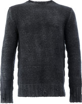 Avant Toi distressed jumper - men - Silk/Cashmere/Merino - M