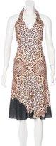 Roberto Cavalli Knit Halter Dress