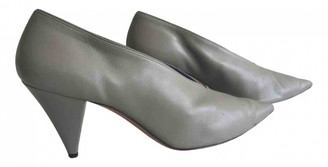 Celine Soft V Neck Grey Leather Heels
