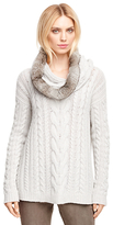 Brooks Brothers Cashmere Handknit Cable Sweater