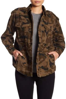 Romeo & Juliet Couture Camo Print Embroidered Dragon Jacket
