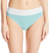 Warner's Warners Women's No Pinching. No Problems. Cotton with Lace Hi-Cut Brief Panty