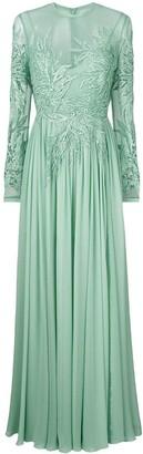 Elie Saab long-sleeve embroidered dress