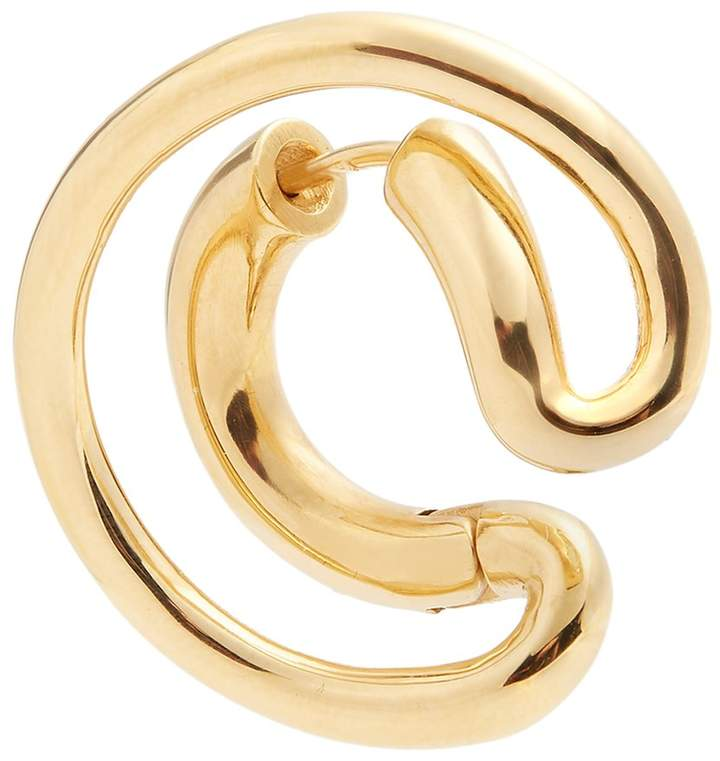 Charlotte Chesnais Ego small gold-plated single earring