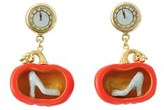 Les Nereides Glass Slipper Pumpkin Earrings.