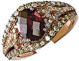 LeVian 14K Strawberry Gold Rhodolite and Diamond Ring
