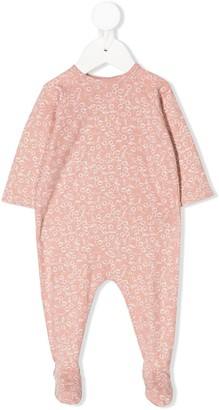 Bonpoint Cherry-Print Footed Pajamas