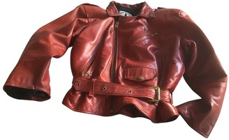 Ventcouvert Burgundy Leather Leather Jacket for Women Vintage