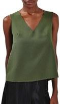 Topshop Women's Button Back Crop Shell Top