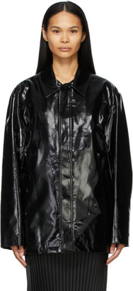 we11done Black Logo Print Jacket