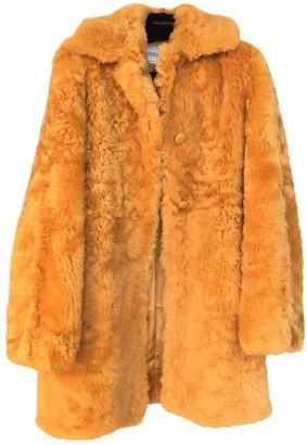 Valentino Orange Fur Coat for Women
