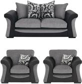 Very Lawson 3-Seater Sofa + 2 Armchairs (Buy and SAVE!)