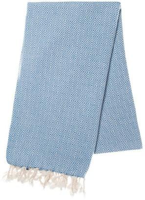 Slate & Salt Diamond Blue Turkish Towel