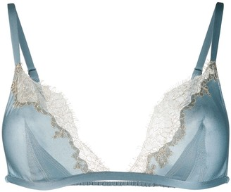 Carine Gilson Triangular Bra With Lace Detail