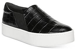 Vince Women's Warren Croc-Embossed Platform Sneakers