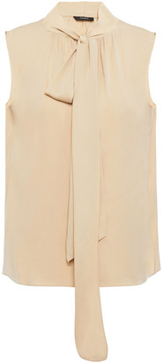Theory Tie-neck Stretch-silk Top
