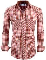 Tom's Ware Mens Classic Slim Fit Buffalo Plaid Longsleeve Shirt TWCS11-XL US