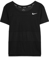 Nike Paneled Dri-fit Stretch-jersey T-shirt - Black