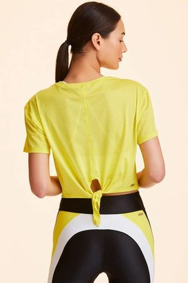 ALALA Tie Back Crop Tee Blazing Yellow - XS