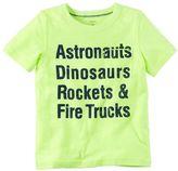 "Carter's Boys 4-8 Astronauts Dinosaurs Rockets & Fire Trucks"" Graphic Tee"