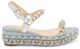Christian Louboutin Pira Ryad Studded Glitter Platform Wedge Sandals