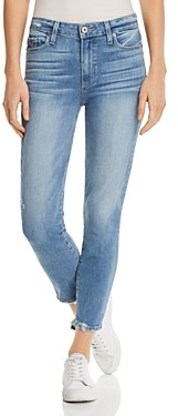 Paige Hoxton High-Rise Crop Skinny Jeans in Atterberry