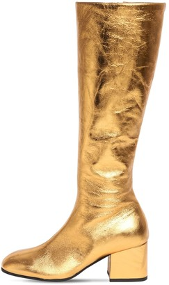 Marni 60mm Metallic Leather Tall Boots