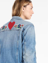 Lucky Brand Plus Size Denim Jacket With Embroidery