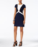 Vince Camuto Crepe Colorblocked Sheath Dress