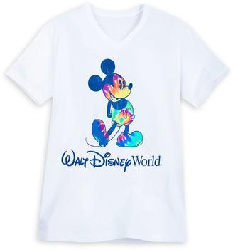 Disney Mickey Mouse Tie-Dye Print T-Shirt for Adults Walt World