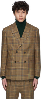 Nanushka Multicolor Wool Tartan Tweed Malvin Blazer