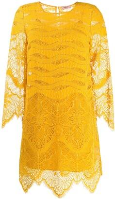Twin-Set Crochet Shift Dress