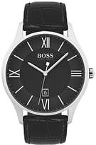 HUGO BOSS Governor Men's Leather Strap Watch