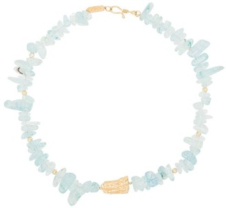 Apples & Figs Song of the Waves aquamarine necklace