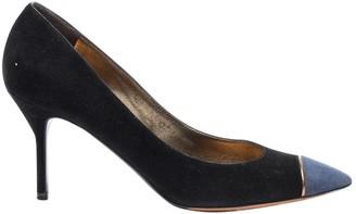 Saint Laurent Black Suede Heels