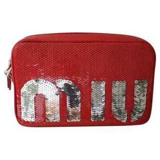 Miu Miu Red Glitter Handbags