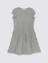 Marks and Spencer Dogtooth Textured Dress (5-14 Years)