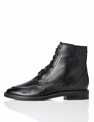 Amazon Brand - find. Zip Front Leather Ankle Boots