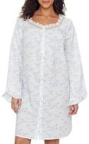 Eileen West Floral & Stripe Lawn Ballet Woven Nightgown