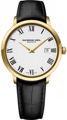 Raymond Weil 5488-pc-00300 Toccata stainless steel yellow gold pvd and leather watch