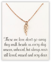 Designs By Karamarie Designs by KaraMarie Women's Necklaces rose - 14k Rose Gold-Plated Angel Wing Pendant Necklace & Quote Card