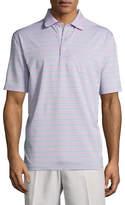 Peter Millar Tradeshow Striped Stretch-Jersey Polo Shirt