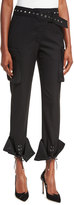 Monse Grommet-Studded Slim-Leg Cargo Pants
