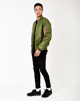 Alpha Industries Classic MA1 Vintage Fit Bomber Jacket Sage Green