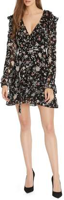 Buffalo David Bitton Charming Ruffle Floral-Print Mini Dress