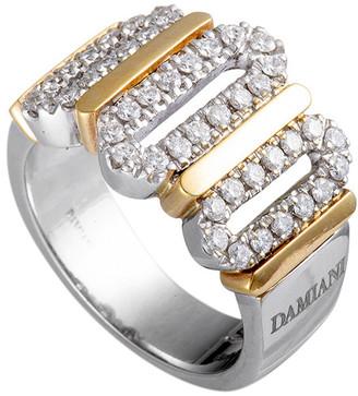 Damiani Certified 18K Two-Tone 0.65 Ct. Tw. Diamond Ring