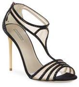 Giorgio Armani Studded T-Strap Dress Sandals