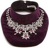 Mary Katrantzou Crystal-embellished velvet bib necklace